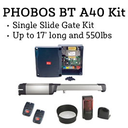 BFT Phobos BT A40 Swing Gate Operator Kit