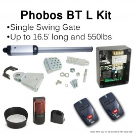 BFT Phobos BT L Single Swing Gate Operator Kit